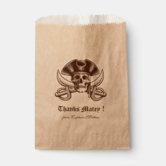 Pirate Skull Party Birthday Party Favor Bag