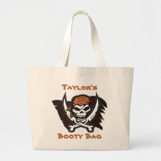 Pirate Skull Personalized Booty Bag
