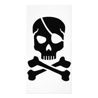 Pirate skull photo cards