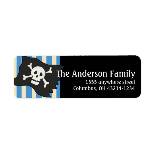 Pirate Skull Pirate Flag Return Address Labels