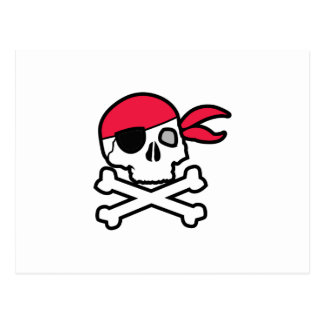 Pirate Skull Postcard
