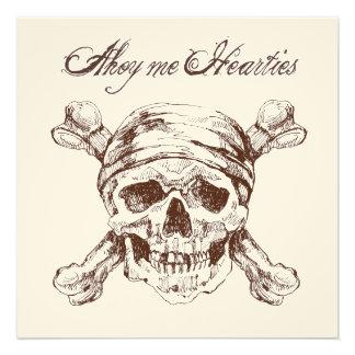 Pirate Skull Ship Birthday Party Invite