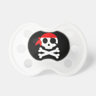 Pirate Skull Skeleton Bandanna Baby Pacifier