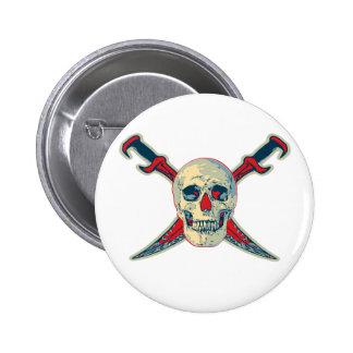 Pirate (Skull) - Standard, 2¼ Inch Round Button 6 Cm Round Badge