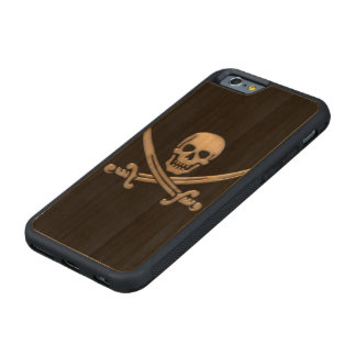 Pirate Skull & Sword Crossbones (TLAPD) Carved Cherry iPhone 6 Bumper Case