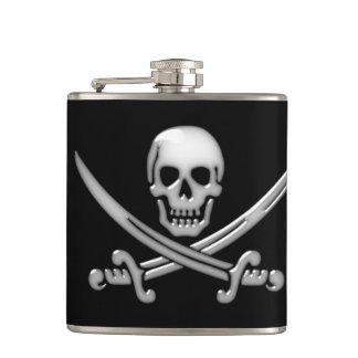 Pirate Skull & Sword Crossbones (TLAPD) Hip Flask