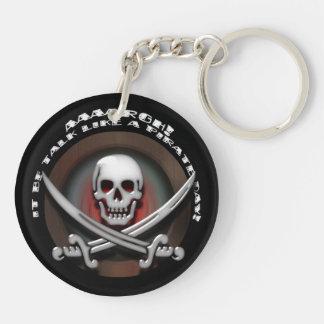 Pirate Skull & Sword Crossbones - TLAPD Key Ring