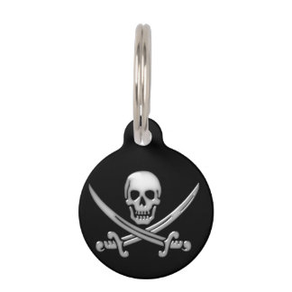 Pirate Skull & Sword Crossbones (TLAPD) Pet ID Tags