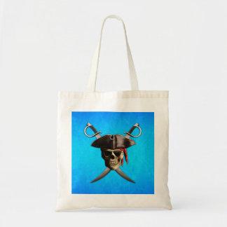 Pirate Skull Swords Tote Bag