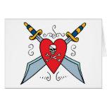 Pirate Skull Tattoo Cards