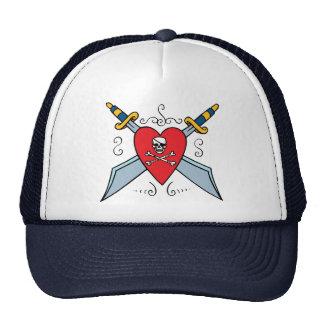 Pirate Skull Tattoo Trucker Hats