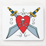 Pirate Skull Tattoo Mouse Pads