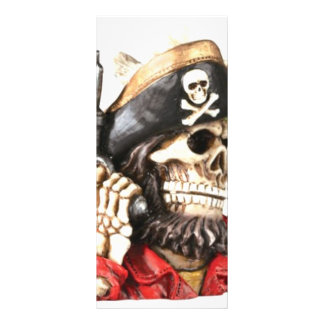 Pirate Skull w/ Pistol Rack Card