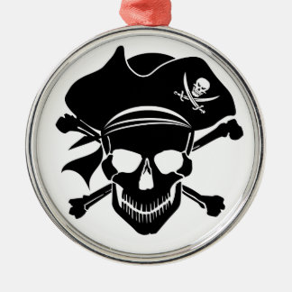 Pirate Skull with Cross Bones Ornament