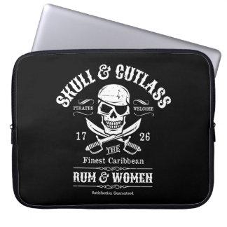 Pirate Skull with Crossed Cutlasses Laptop Sleeve