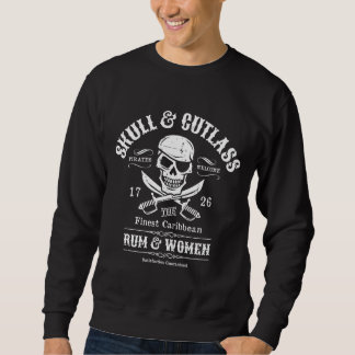 Pirate Skull with Eye Patch and Swords Sweatshirt