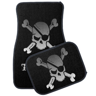 Pirate Skull With Eye Patch Personalized Car Mat