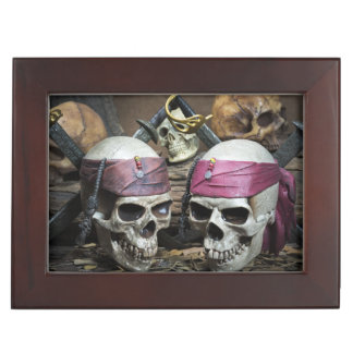Pirate Skulls custom text keepsake box