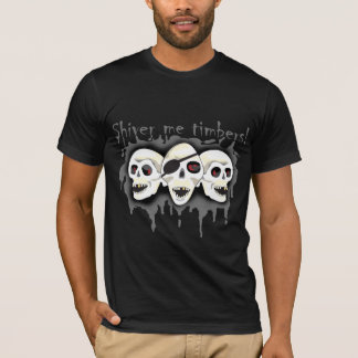 Pirate Skulls Shiver Me Timbers Mens Shirt 2