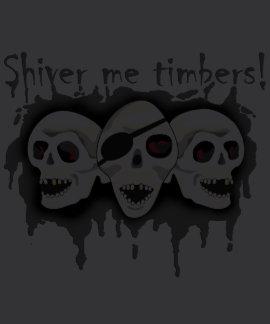 Pirate Skulls Shiver Me Timbers Mens Shirt 2