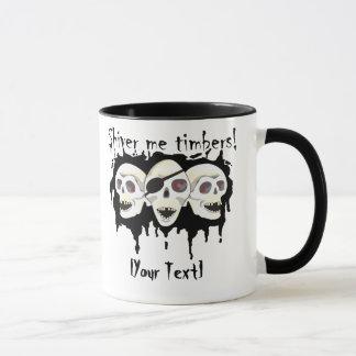 Pirate Skulls Shiver me Timbers Mugs