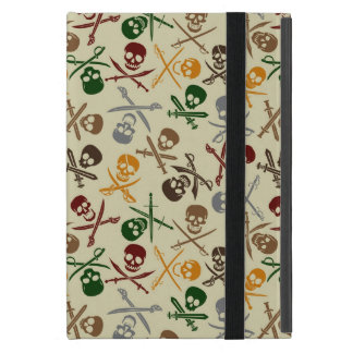 Pirate Skulls with Crossed Swords Case For iPad Mini