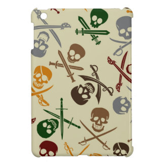 Pirate Skulls with Crossed Swords Case For The iPad Mini