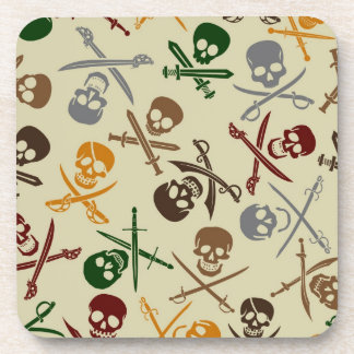 Pirate Skulls with Crossed Swords Coasters
