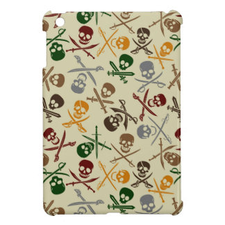Pirate Skulls with Crossed Swords iPad Mini Covers
