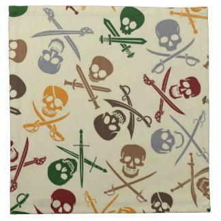 Pirate Skulls with Crossed Swords Napkin