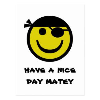 Pirate Smiley Postcard