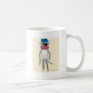 Pirate Sock Monkey Basic White Mug