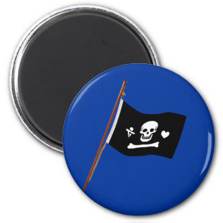 Pirate Stede Bonnet Jolly Roger Fflag 6 Cm Round Magnet