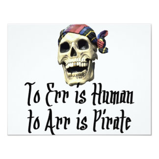 Pirate T-shirts and Gifts. Card