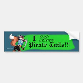 Pirate Tails Bumper Sticker