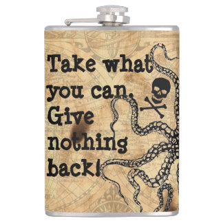 Pirate Take What You Can Hip Flask