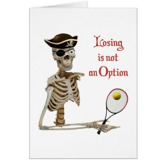 Pirate Tennis Losing Skeleton Card