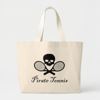 Pirate Tennis Skull & Racquet Jumbo Tote Bag