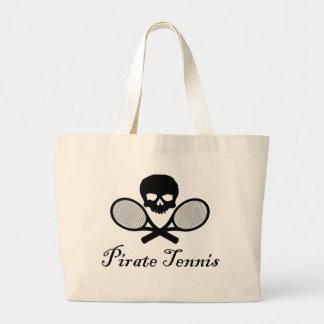Pirate Tennis Skull & Racquet Jumbo Tote Bag