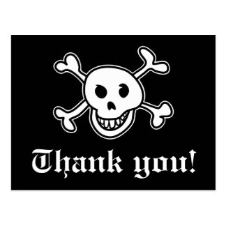 Pirate thank you card for birthdays party