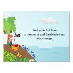Pirate Thank You Card 11 Cm X 14 Cm Invitation Card