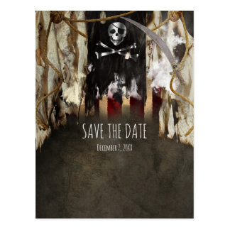 Pirate Theme Party Invitations Save The Date Postcard