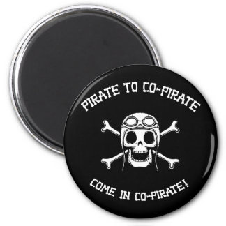Pirate to Co-Pirate 6 Cm Round Magnet