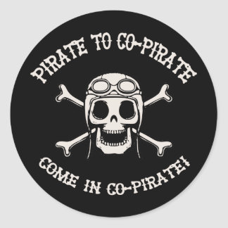 Pirate to Co-Pirate Stickers