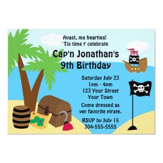 Pirate Treasure Birthday Party 13 Cm X 18 Cm Invitation Card