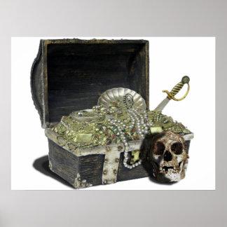Pirate treasure chest 1 poster