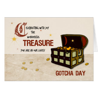 Pirate Treasure Gotcha Day, Boy Card