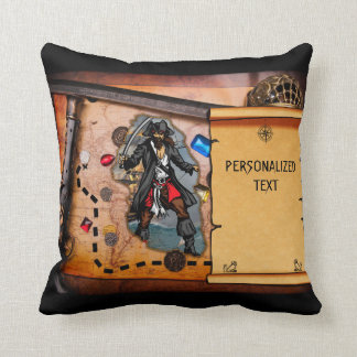 Pirate treasure map cushion