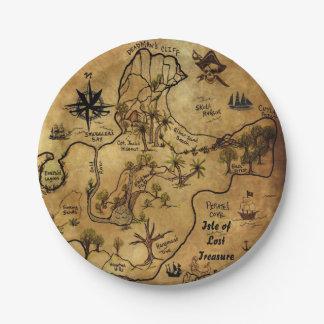 Pirate Treasure Map Paper Plate
