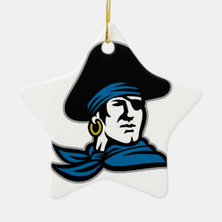 Pirate Tricorn Hat Neckerchief Retro Ceramic Star Decoration